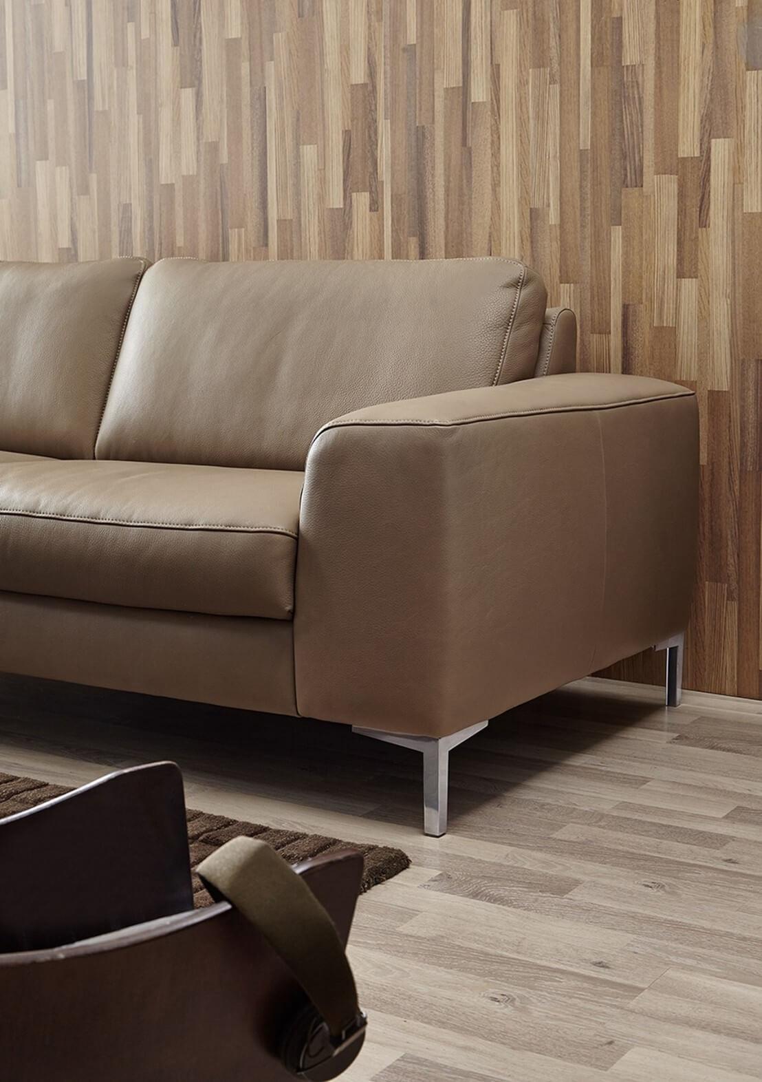 canap 3 places idyl design en cuir. Black Bedroom Furniture Sets. Home Design Ideas