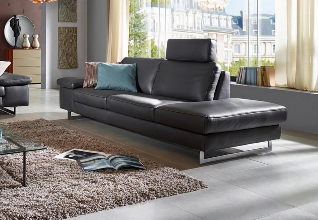 canap 3 places icon terminaison ottomane design en cuir. Black Bedroom Furniture Sets. Home Design Ideas