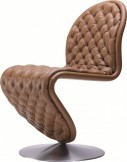 Chaise V. Panton SYSTEM 1-2-3 Deluxe cuir Masérati