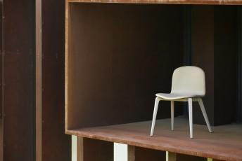 Lot de 6 chaises Blaine-R design tissu et bois