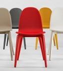 Chaises Bliss tapissées & laquées couleur, par 6