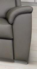 Canapé d'angle Shane avec chaise longue 3,5 places cuir