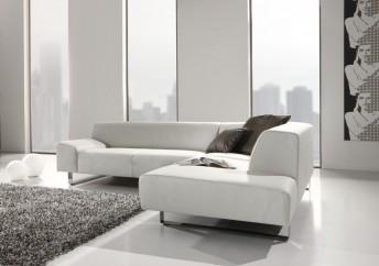 Canapé angle minimaliste 5 places en cuir M.Madonna
