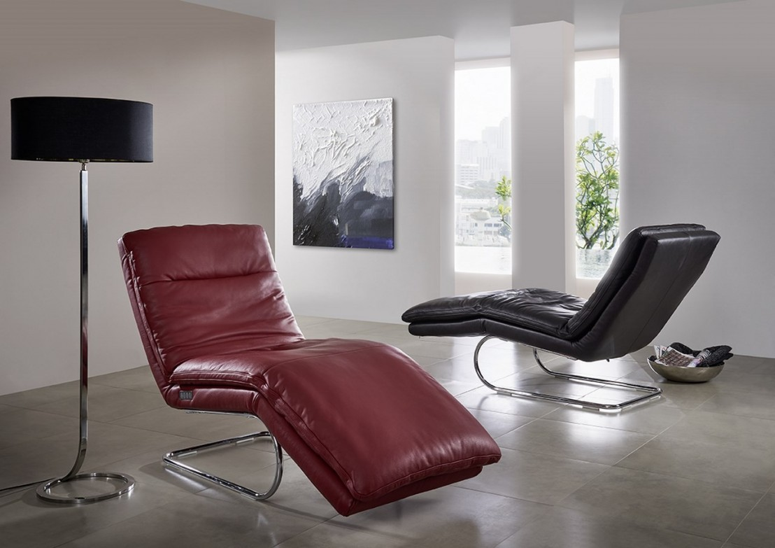 chaise longue relax absolute en cuir. Black Bedroom Furniture Sets. Home Design Ideas
