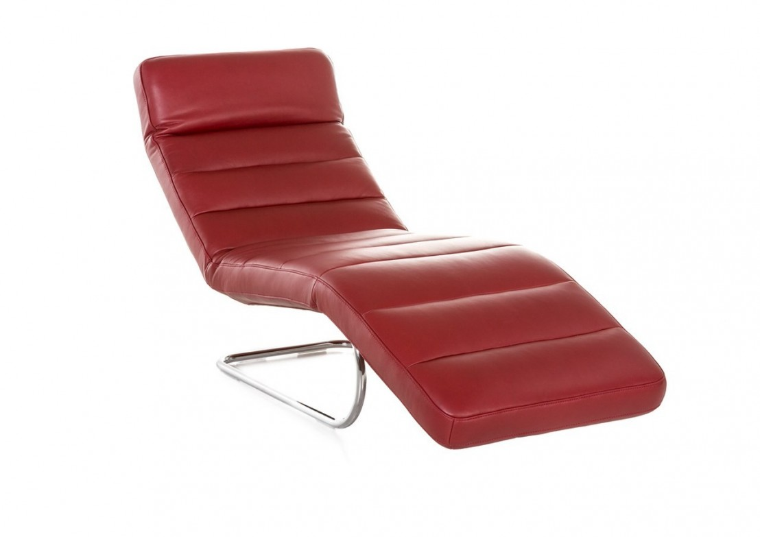 Chaise longue flexible cuir design controlbody cuir 65 cm for Chaise pliable design
