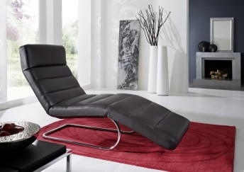 Chaise longue flexible cuir design CONTROLBODY cuir, 65 cm