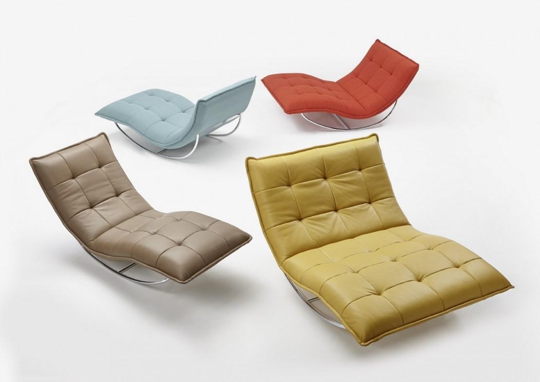 chaise longue de relaxation rockme xl en cuir. Black Bedroom Furniture Sets. Home Design Ideas