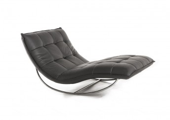 Chaise longue de relaxation ROCKME XXL en cuir ou tissu