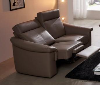 Petit canapé relax électique cuir ou tissu 2 places JohnJohn
