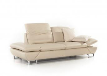 Canapé 2,5 places cuir ou tissu design LINEFLEX, profondeur réglable !