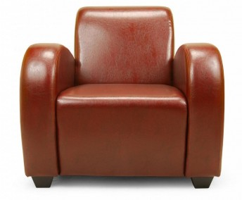 Paire de fauteuils Club Soledad en cuir