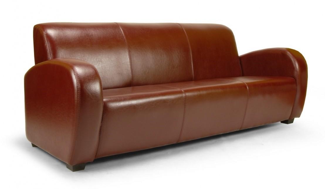 canap club soledad 3 places en cuir au choix. Black Bedroom Furniture Sets. Home Design Ideas