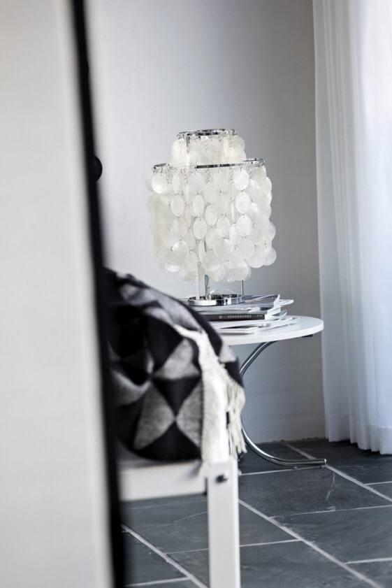 Lampe de table Verpan nacre Fun 2TM