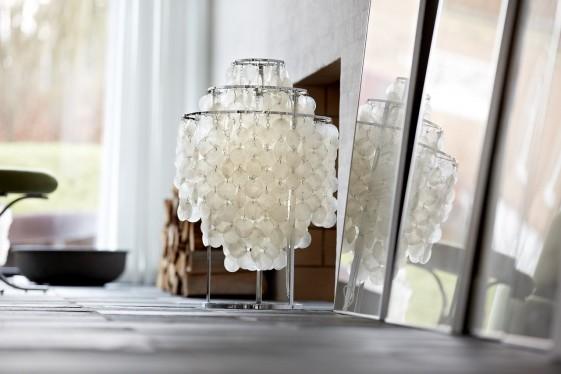 Lampe de table Verpan nacre Fun 1TM