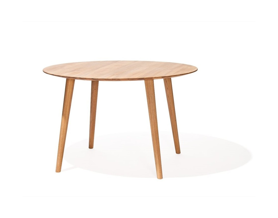 Table ronde en bois de ch ne design malm for Table ronde en bois