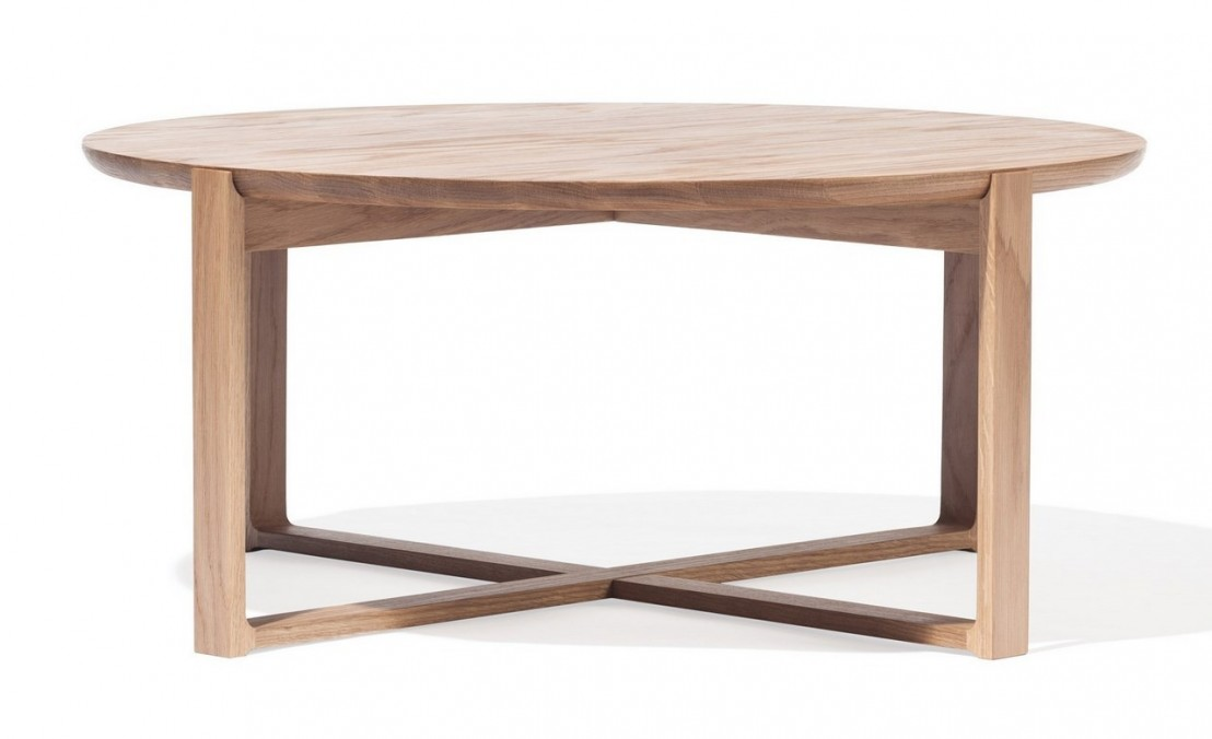 Table Basse Ronde Delta Coffee En Ch Ne Naturel Massif