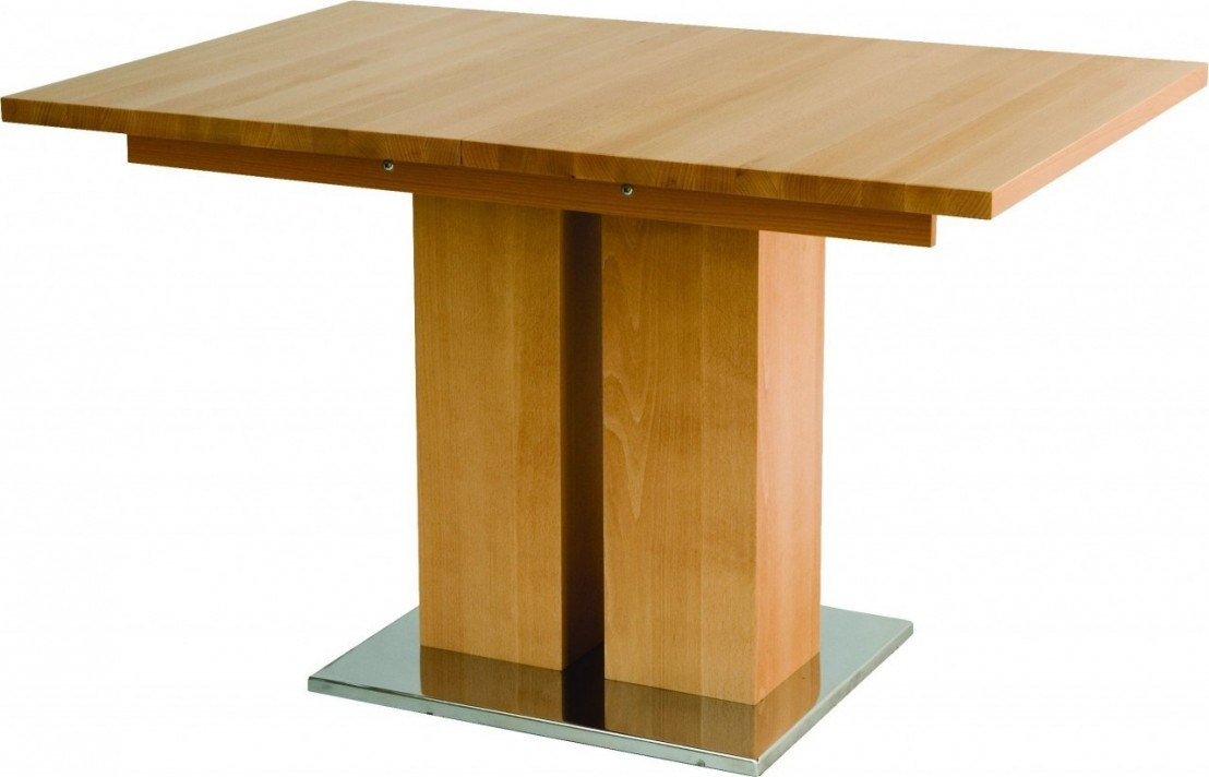 Table bois massif design et grande rallonge md1 160 x 90 cm for Table bois massif