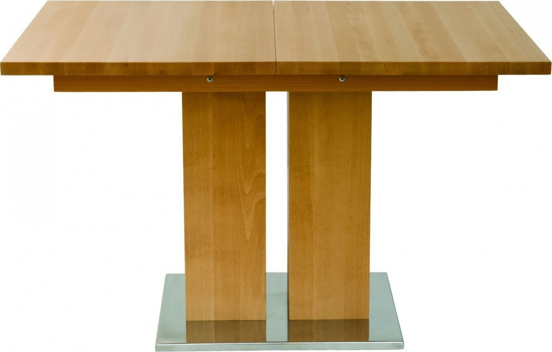 Table bois massif design et grande rallonge md1 160 x 90 cm for Table 160 cm avec rallonge