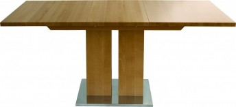 Table bois massif design et grande rallonge MD1 160 x 90 cm
