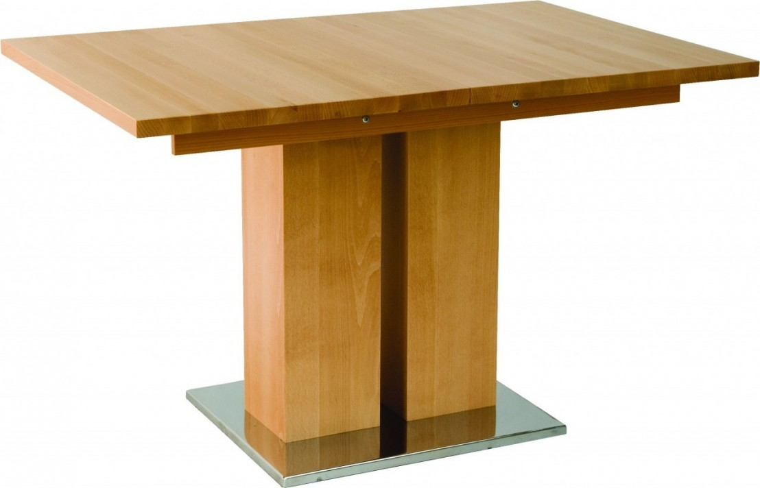 Table design bois massif grande rallonge md1 140 x 90 cm - Table rallonge bois massif ...