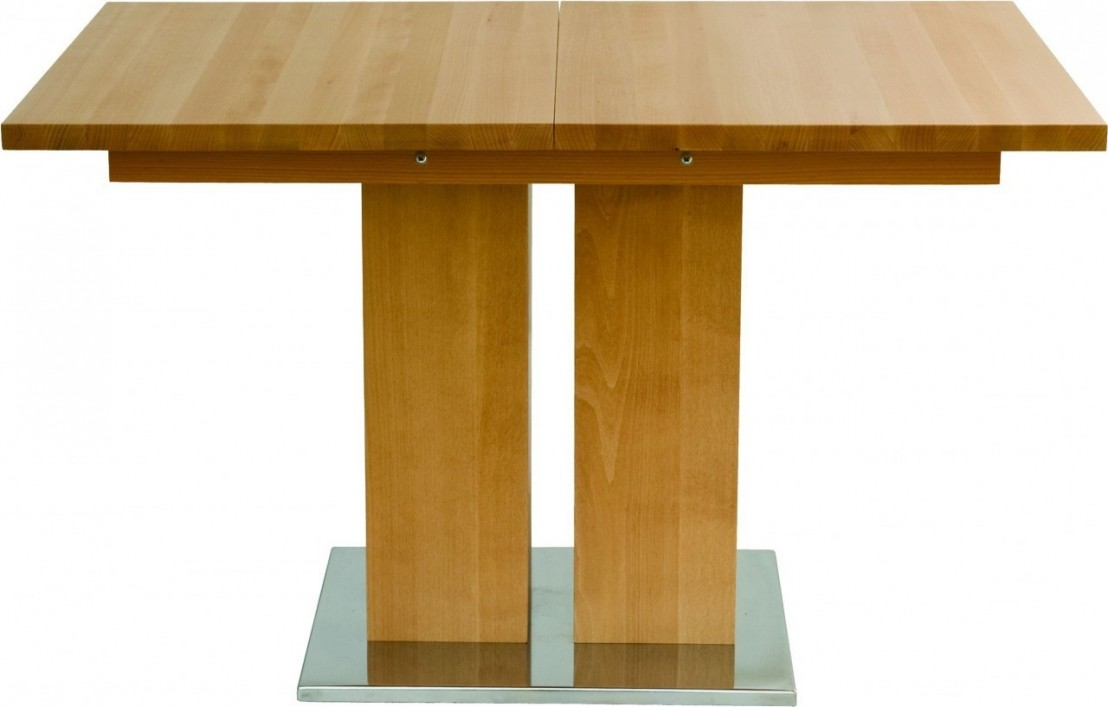 Table design bois massif grande rallonge md1 140 x 90 cm for Table bois massif design