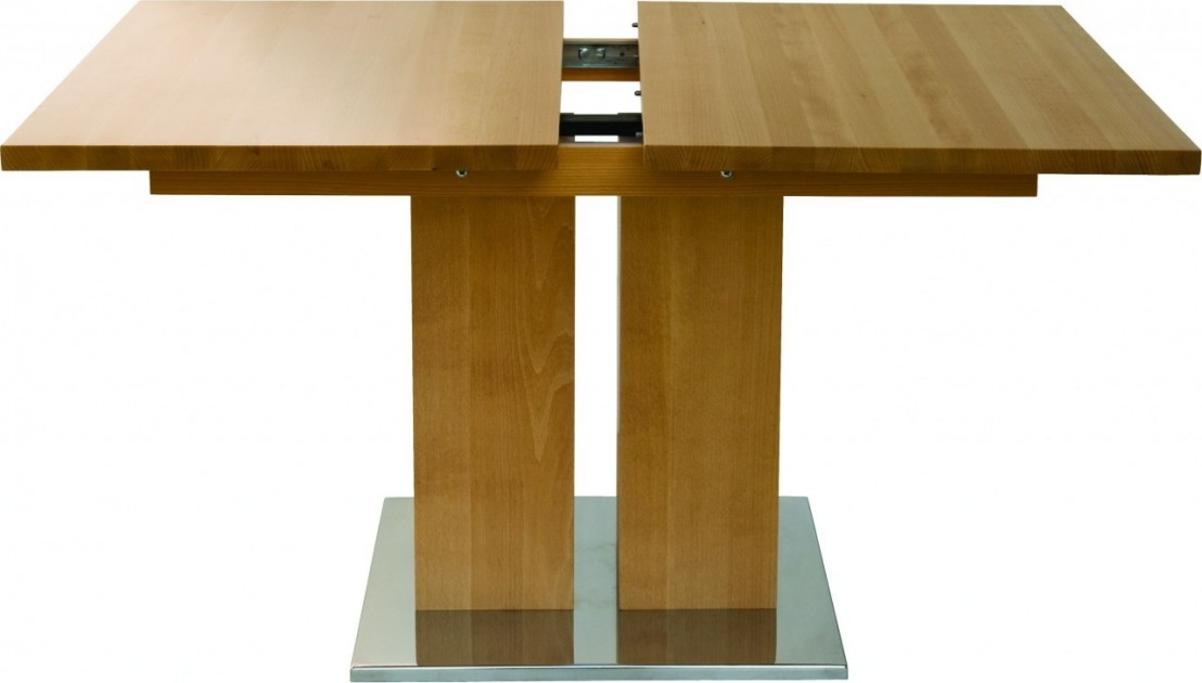 Table design bois massif grande rallonge md1 140 x 90 cm - Table 140 x 90 avec rallonge ...