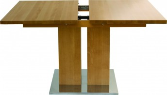 Table rallonge bois massif MD1 160 x 90 cm