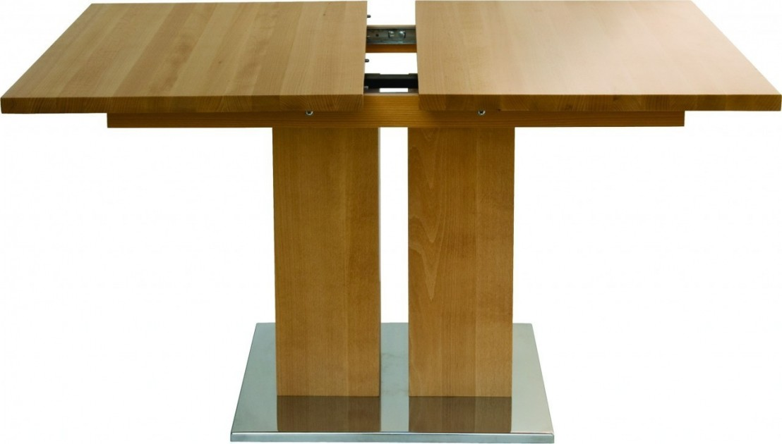 Table Bois Massif Rallonge - Table rectangulaire design bois massif a rallonge MD1 160 x 80 cm