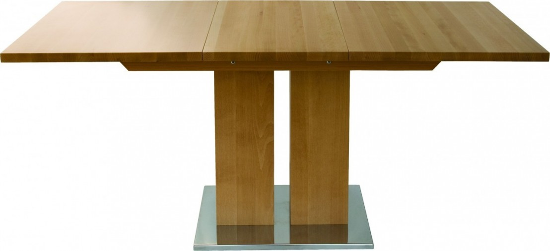Table rectangulaire design bois massif a rallonge md1 160 x 80 cm - Table rectangulaire a rallonge ...
