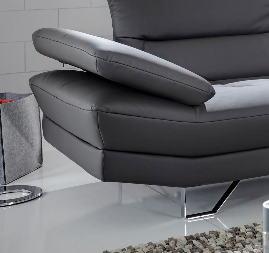 Canap Angle Cuir Ou Tissu 5 Places Design Affec X