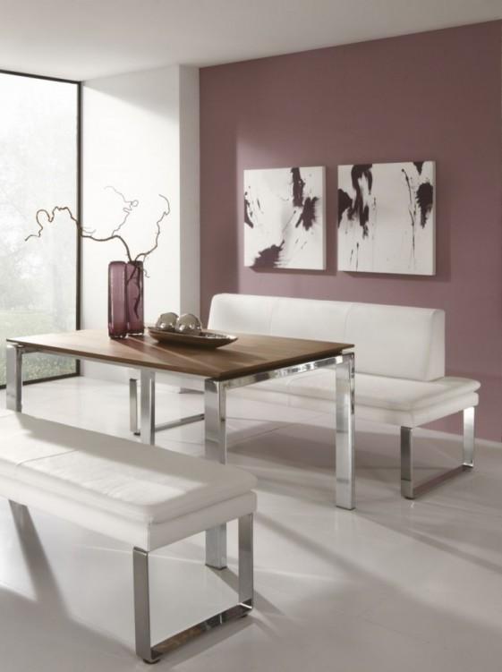 Banquette en cuir ou tissu, SoftWay 140 cm